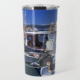 Fishing boats of Corfu Town Travel Mug