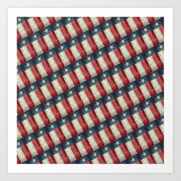 Vintage Texas flag pattern Art Print