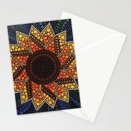 Dotty Sunflower Stationery Cards
