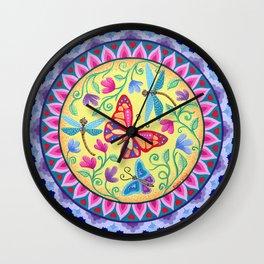 Spring Melody Mandala Wall Clock