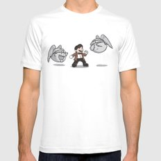 Weeping Boo's  MEDIUM Mens Fitted Tee White