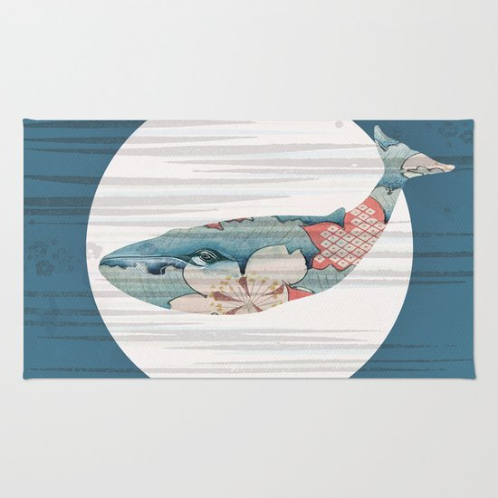 Whales and Polka Dots Rug