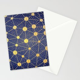Cryptocurrency mining network Stationery Cards