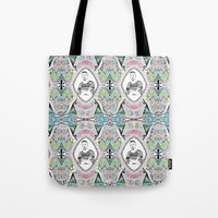 ryan gosling Tote Bags featuring Promise me gosling  by sarah illustration
