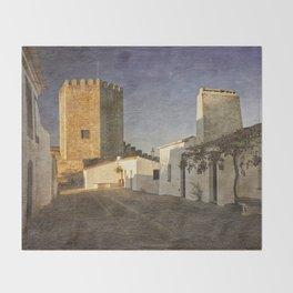 Monsaraz Castle, Portugal Throw Blanket