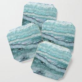Mystic Stone Aqua Teal Coaster
