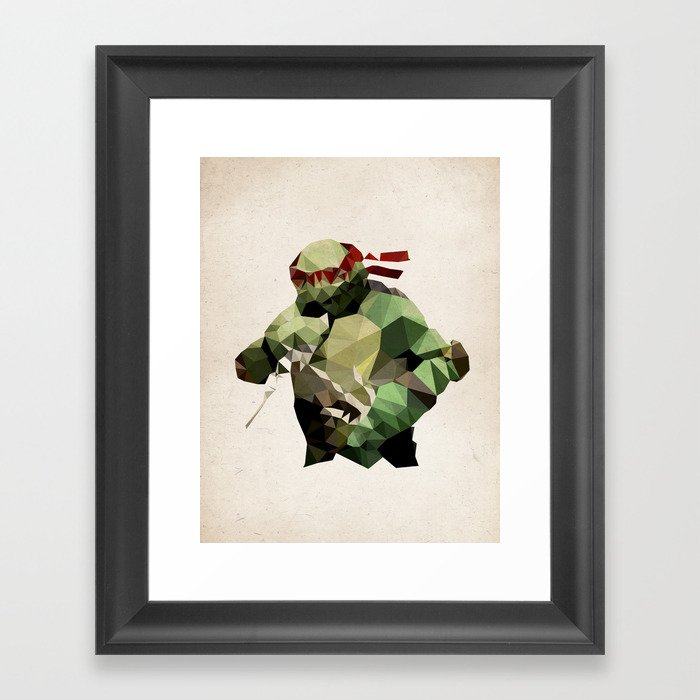 Polygon Heroes - Raphael Framed Art Print