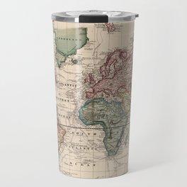 Vintage Map of The World (1833) Travel Mug