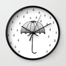 In The Rain Wall Clock