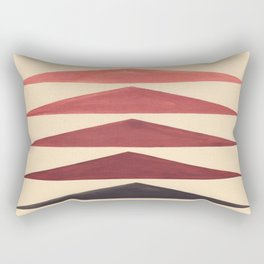 Brown Geometric Triangle Pattern With Black Accent Rectangular Pillow