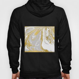 Gold And Grey Marble Hoody