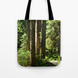 Walkway in Hoh Rainforest Tote Bag
