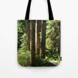 Walkway in Hoh Rainforest Tote Bag
