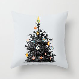 Decorated christmas tree Throw Pillow