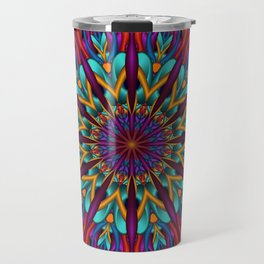 Amazing colors 3D mandala Travel Mug
