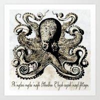 Cthulhu Yog-Sothothery Art Print