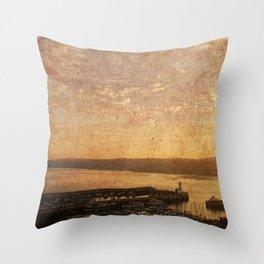Calm Harbour Throw Pillow