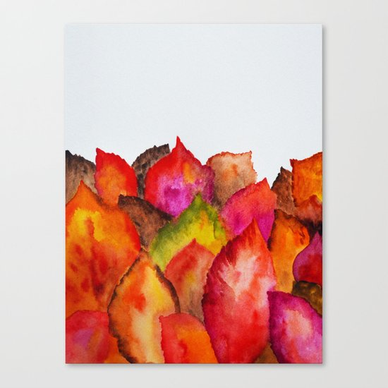 Autumn abstract watercolor 01 Canvas Print