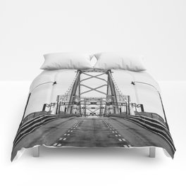 MacDonald Bridge Symmetry Comforters