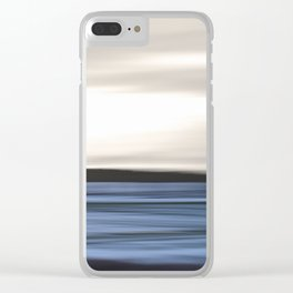 Sea Abstraction Clear iPhone Case