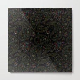 Colored paisley pattern Metal Print