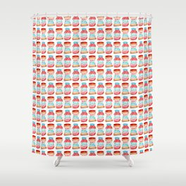 Peanut Butter & Jelly Watercolor Shower Curtain