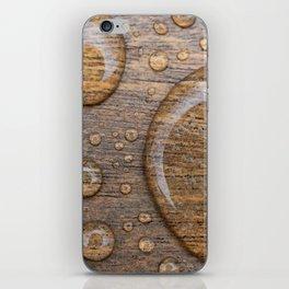 Water Drops on Wood 3 iPhone Skin