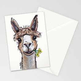 Lycoming the Alpaca, Alpaca Art Stationery Cards