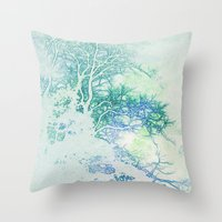 oriental Throw Pillows featuring Oriental by Aniko Gajdocsi