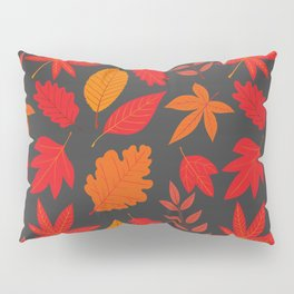 Red autumn leaves Pillow Sham