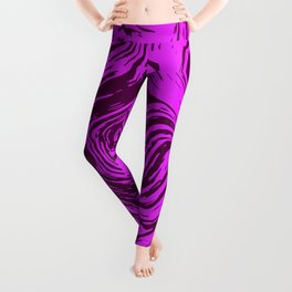 Abstract liquid fluid effect color pattern Leggings