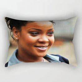 Rihanna - Celebrity Art Rectangular Pillow