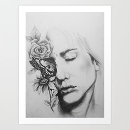 Sleeping Flowers Art Print