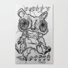 smelly hamster Canvas Print