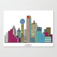dallas Canvas Prints featuring Dallas city  by bri.buckley