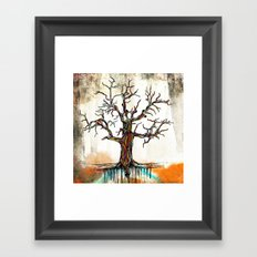 Tree of Many Colors Framed Art Print