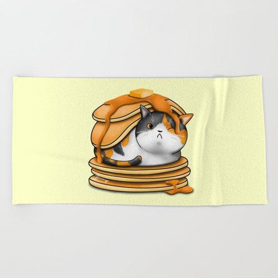 Kitty Pancakes Beach Towel