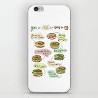 biology iPhone & iPod Skins featuring Bagel Biology by Faye Finney