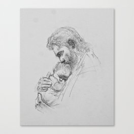 Christ and Infant Canvas Print
