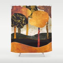 Metallic Forest Shower Curtain