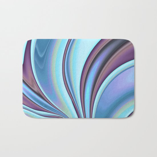 Abstract Fractal Colorways 02PrBl Bath Mat