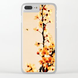 SPRING BLOSSOMS IN ORANGE Clear iPhone Case