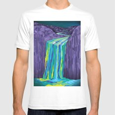 The Great Waterfall White MEDIUM Mens Fitted Tee