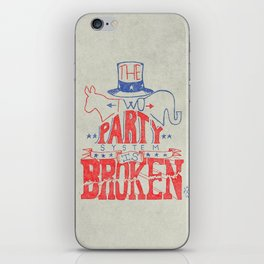 The Two Party System iPhone Skin