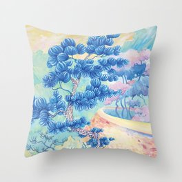 Blue Pine Throw Pillow