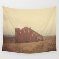 farm Wall Tapestries featuring Autumn Farm by Olivia Joy StClaire