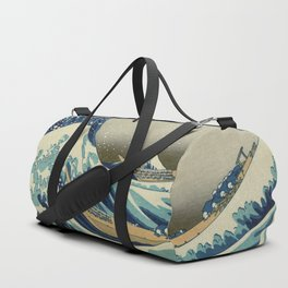 The Classic Japanese Great Wave off Kanagawa Print by Hokusai Duffle Bag