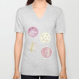 Microbiology: Plates Unisex V-Neck