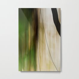 Forest, Water, Lines Metal Print