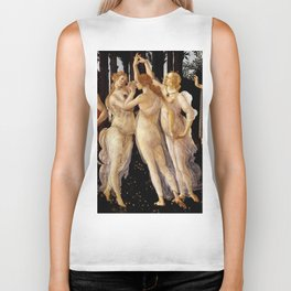 "Sandro Botticelli ""Primavera"" The Three Graces Biker Tank"